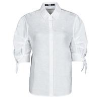 material Women Shirts Karl Lagerfeld LINENSHIRTW/BOWS White