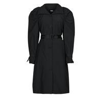material Women Trench coats Karl Lagerfeld DRAPEDTRENCHCOAT Black