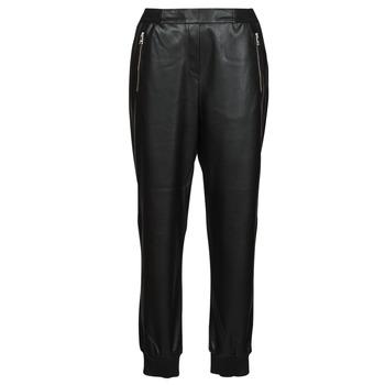 material Women 5-pocket trousers Karl Lagerfeld FAUXLEATHERJOGGERS Black