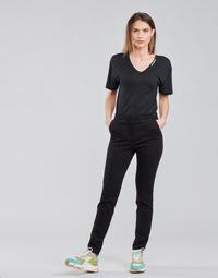 material Women 5-pocket trousers Karl Lagerfeld SUMMERPUNTOPANTS Black
