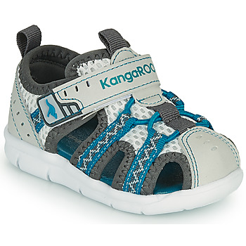 Shoes Boy Sandals Kangaroos K-DROLL EV Grey / Blue