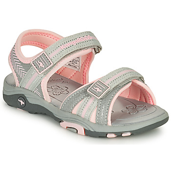 Shoes Girl Sandals Kangaroos K-LANE Grey / Pink