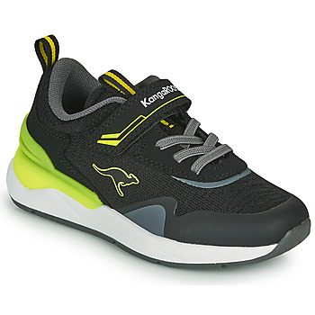 Shoes Boy Low top trainers Kangaroos KD-GYM EV Black / Yellow