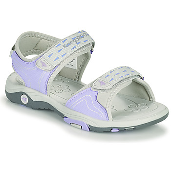 Shoes Girl Sandals Kangaroos K-BLONDE Violet / Grey