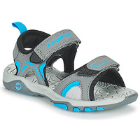 Shoes Children Sandals Kangaroos K-MONT Grey / Blue