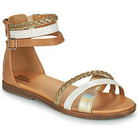 Shoes Girl Sandals Bullboxer ALM013F1S-GOLD Brown