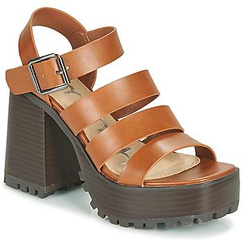 Shoes Women Sandals Emmshu DITA Cognac