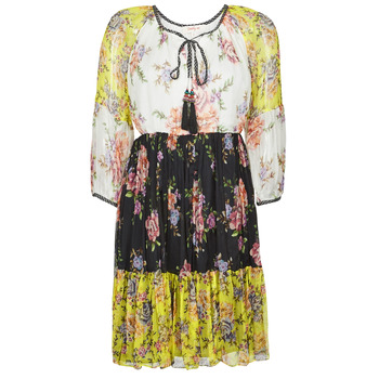 material Women Short Dresses Derhy SARDAIGNE Black / White / Yellow