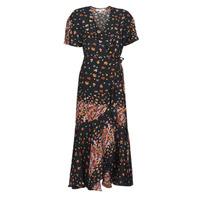 material Women Long Dresses Derhy SUEDE Black / Multicolour