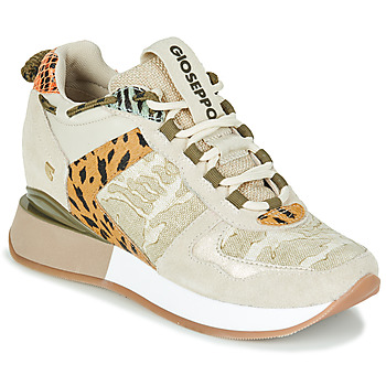 Shoes Women Low top trainers Gioseppo PATERSON Beige / Kaki