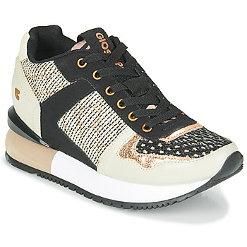 Shoes Women Low top trainers Gioseppo LUBBOCK Black / Beige