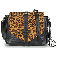 Bags Women Shoulder bags Moony Mood ONIMAL Black / Beige