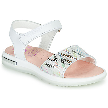 Shoes Girl Sandals Pablosky CAMMI White / Multicolour