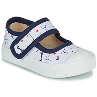 Shoes Children Ballerinas Citrouille et Compagnie MY LOVELY BABIES White / Printed