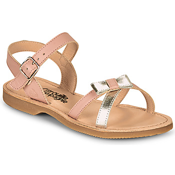 Shoes Girl Sandals Citrouille et Compagnie JISCOTTE Pink / Silver