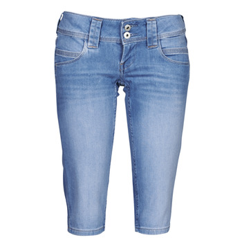 material Women cropped trousers Pepe jeans VENUS CROP Blue