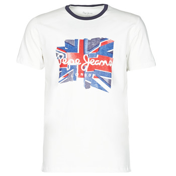 material Men short-sleeved t-shirts Pepe jeans DONALD White