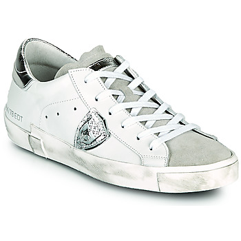Shoes Women Low top trainers Philippe Model PARIS X White / Silver