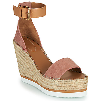 Shoes Women Espadrilles See by Chloé GLYN Pink / Nude