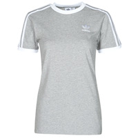 material Women short-sleeved t-shirts adidas Originals 3 STRIPES TEE Grey