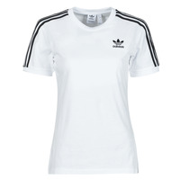 material Women short-sleeved t-shirts adidas Originals 3 STRIPES TEE White
