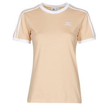 material Women short-sleeved t-shirts adidas Originals 3 STRIPES TEE Orange