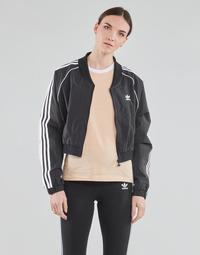 material Women Jackets adidas Originals SHORT TRACKTOP Black