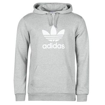 material Men sweaters adidas Originals TREFOIL HOODIE Grey