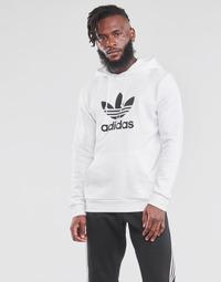 material Men sweaters adidas Originals TREFOIL HOODIE White