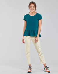 material Women straight jeans Lee CAROL Ecru