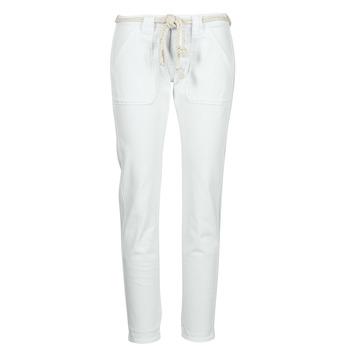 material Women 5-pocket trousers Le Temps des Cerises EZRA White