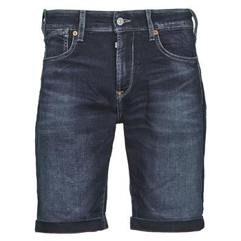material Men Shorts / Bermudas Le Temps des Cerises JOGG BERMUDA Blue / Black