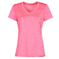 material Women short-sleeved t-shirts Under Armour TECH SSV Pink