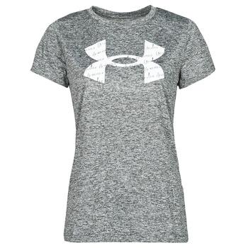 material Women short-sleeved t-shirts Under Armour TECH TWIST BL SSC Grey