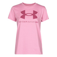 material Women short-sleeved t-shirts Under Armour LIVE SPORTSTYLE GRAPHIC SSC Pink