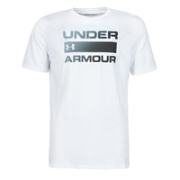 material Men short-sleeved t-shirts Under Armour UA TEAM ISSUE WORDMARK SS White