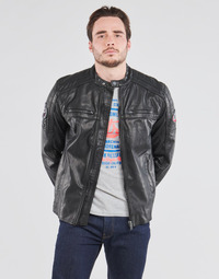 material Men Blouses Petrol Industries JACKET PU BIKER Black
