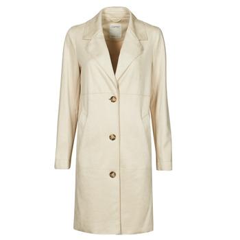 material Women coats Esprit SUEDE COAT Beige