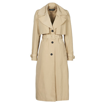 material Women Trench coats Esprit TRENCH NYLON LNG Beige