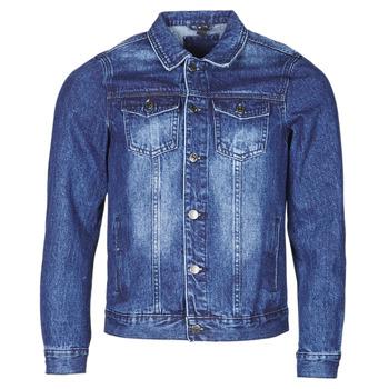 material Men Denim jackets Yurban OPSI Blue / Medium