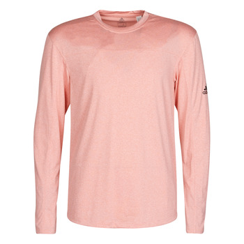 material Men Long sleeved shirts adidas Performance CITY HTR LS TEE Pink