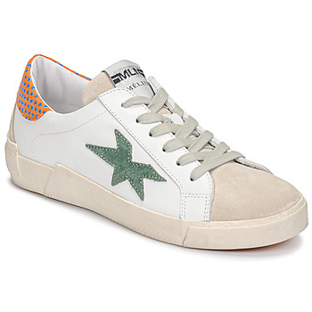 Shoes Women Low top trainers Meline NK1364 White / Green