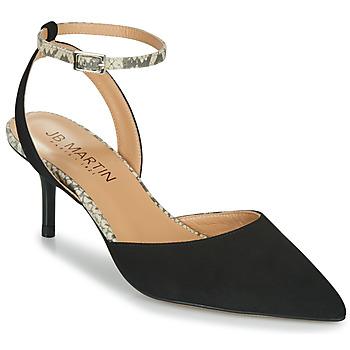Shoes Girl Sandals JB Martin TWISTO Black / White