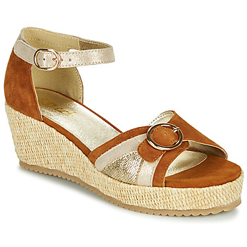 Shoes Women Sandals Sweet ESTERS Gold / Camel
