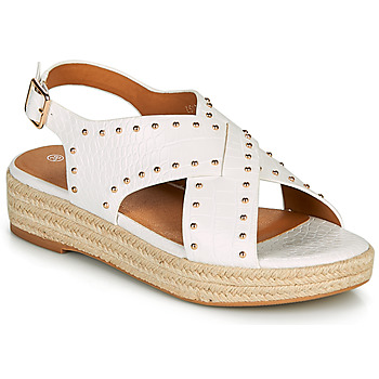 Shoes Women Sandals The Divine Factory LS1802J White