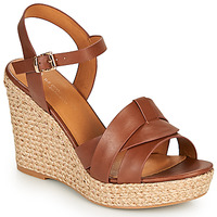 Shoes Women Sandals The Divine Factory LS6932 Camel
