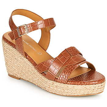 Shoes Women Sandals The Divine Factory QL4351 Camel