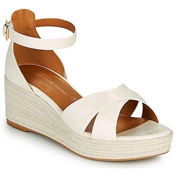 Shoes Women Sandals The Divine Factory QL4346 Cream