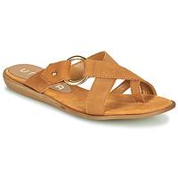 Shoes Women Flip flops Unisa ADRIEL Camel