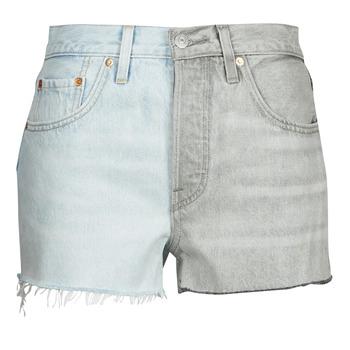 material Women Shorts / Bermudas Levi's ICE BLOCK Blue / Grey